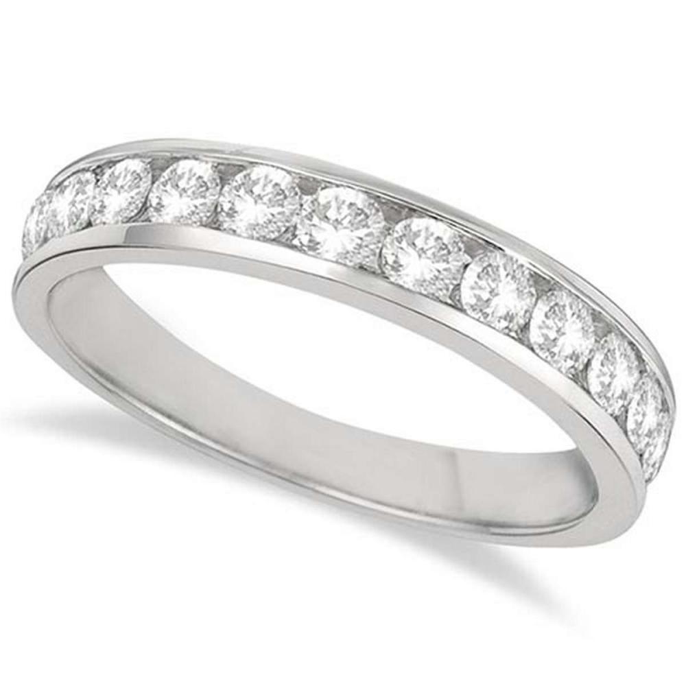 Channel-Set Diamond Anniversary Ring Band Palladium (0.75ct) #PAPPS65633