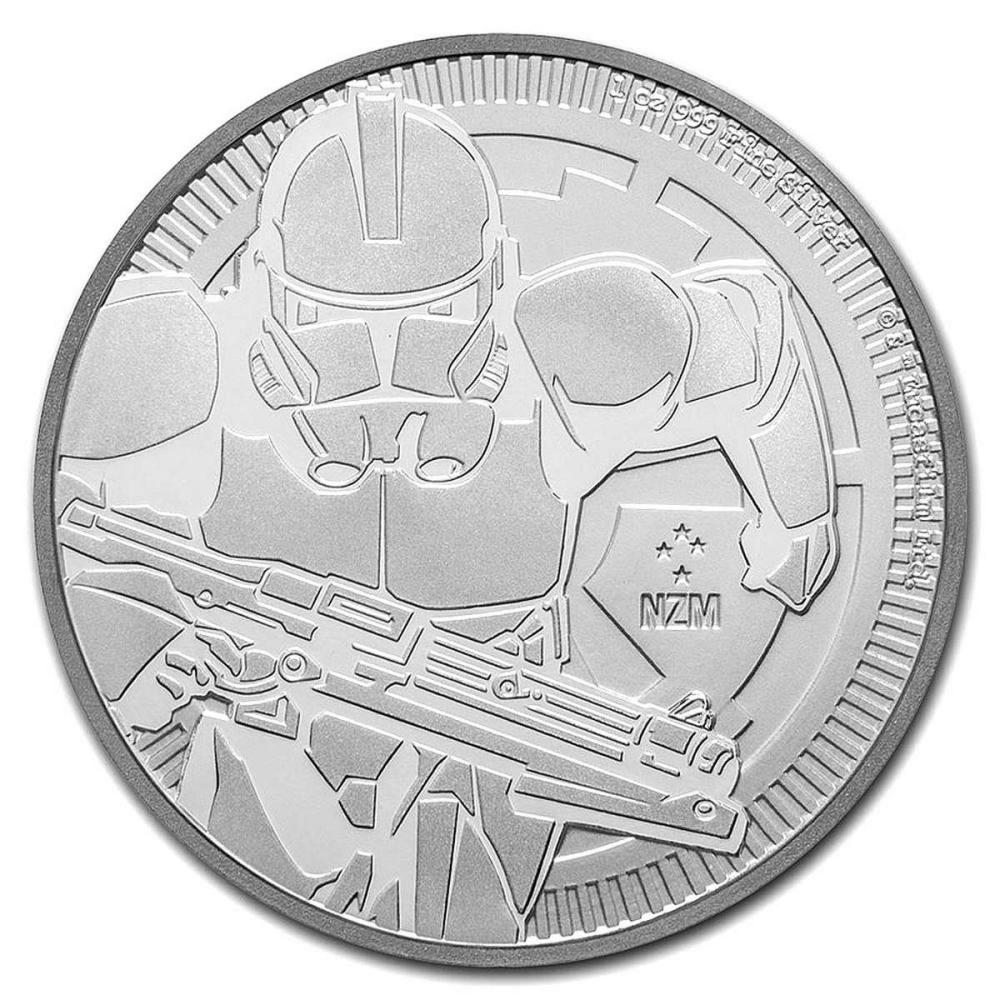 2019 1 oz Niue Clone Trooper Star Wars Silver Coin #PAPPS84389