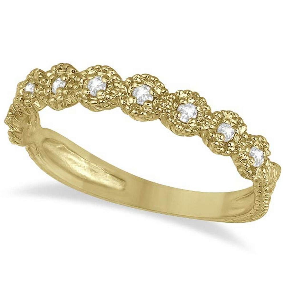 Diamond Stackable Ring Band in 14k Yellow Gold (0.20 ctw) #PAPPS51574