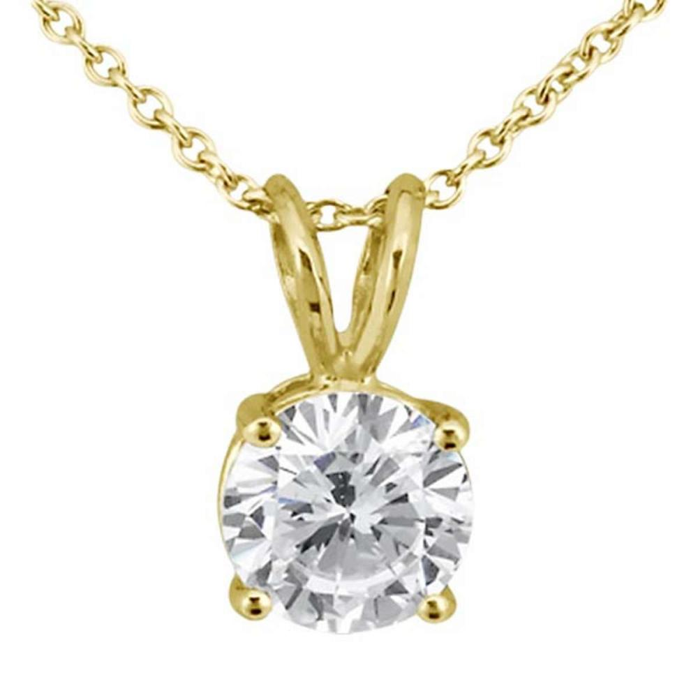 0.33ct. Round Diamond Solitaire Pendant in 18k Yellow Gold (H VS2) #PAPPS51793