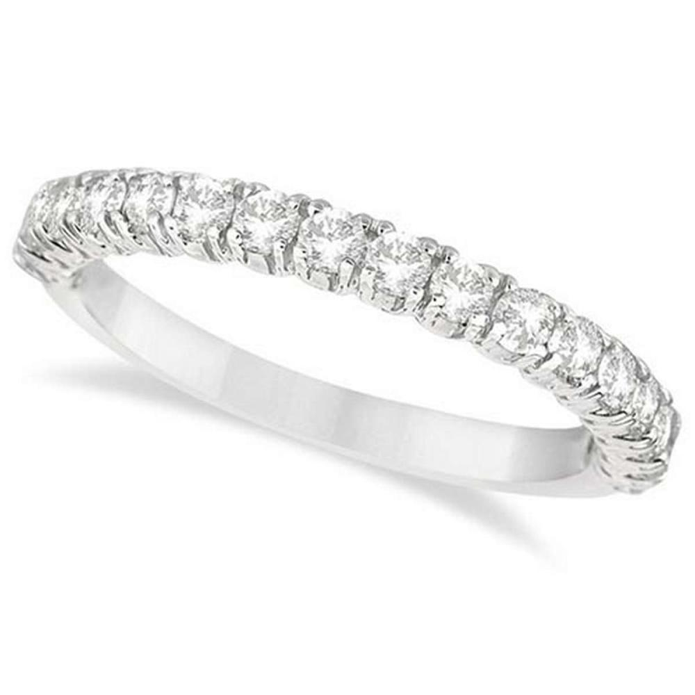 Half-Eternity Pave-Set Diamond Stacking Ring 14k White Gold (0.75ct) #PAPPS65910