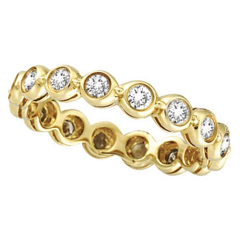 Bezel-Set Diamond Eternity Ring Band 14k Yellow Gold (1.00ct) #PAPPS51931