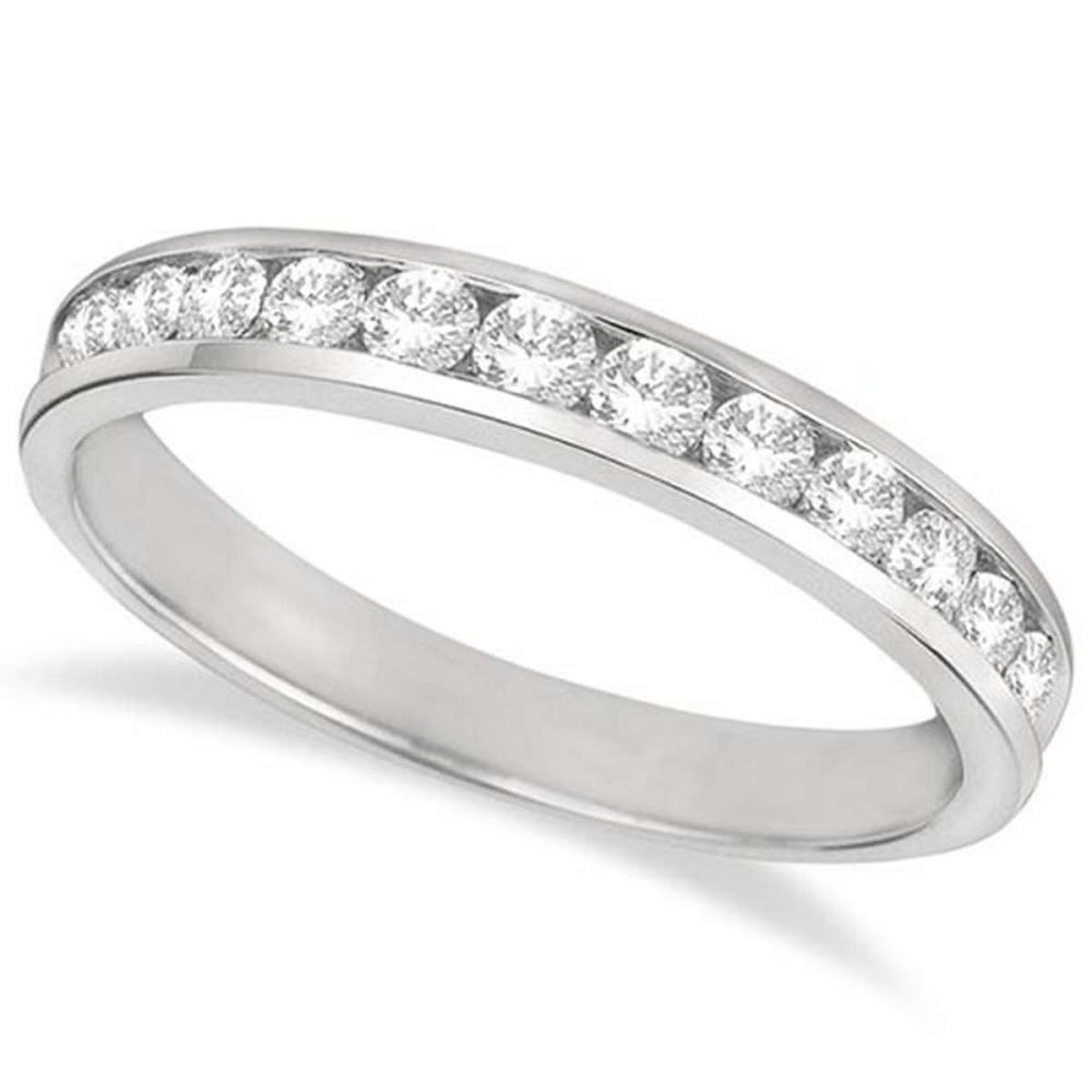 Channel-Set Diamond Anniversary Ring Band Palladium (0.50ct) #PAPPS65632