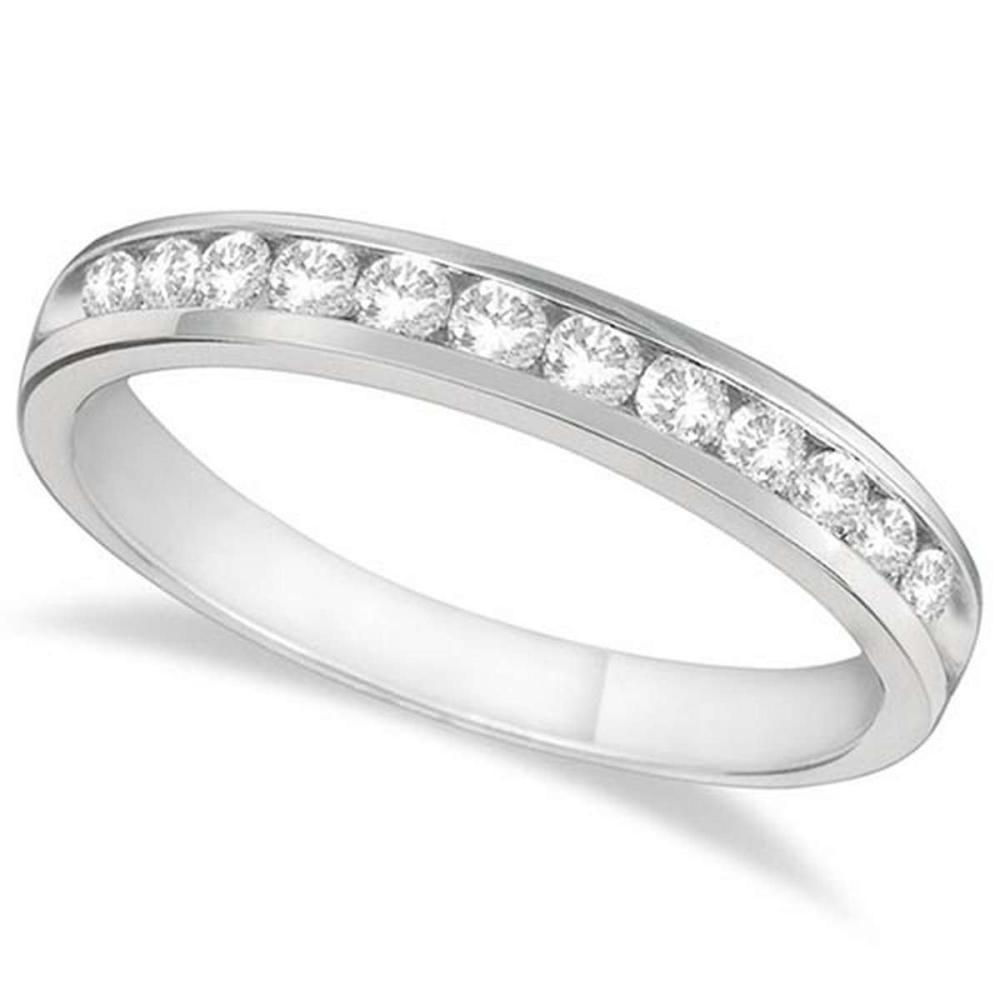 Channel-Set Diamond Anniversary Ring Band Palladium (0.40ct) #PAPPS65631