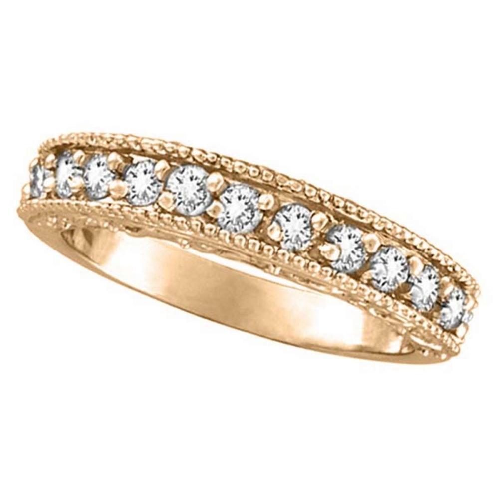 Semi-Eternity Diamond Ring Wedding Band 14k Rose Gold (0.50ct) #PAPPS51947