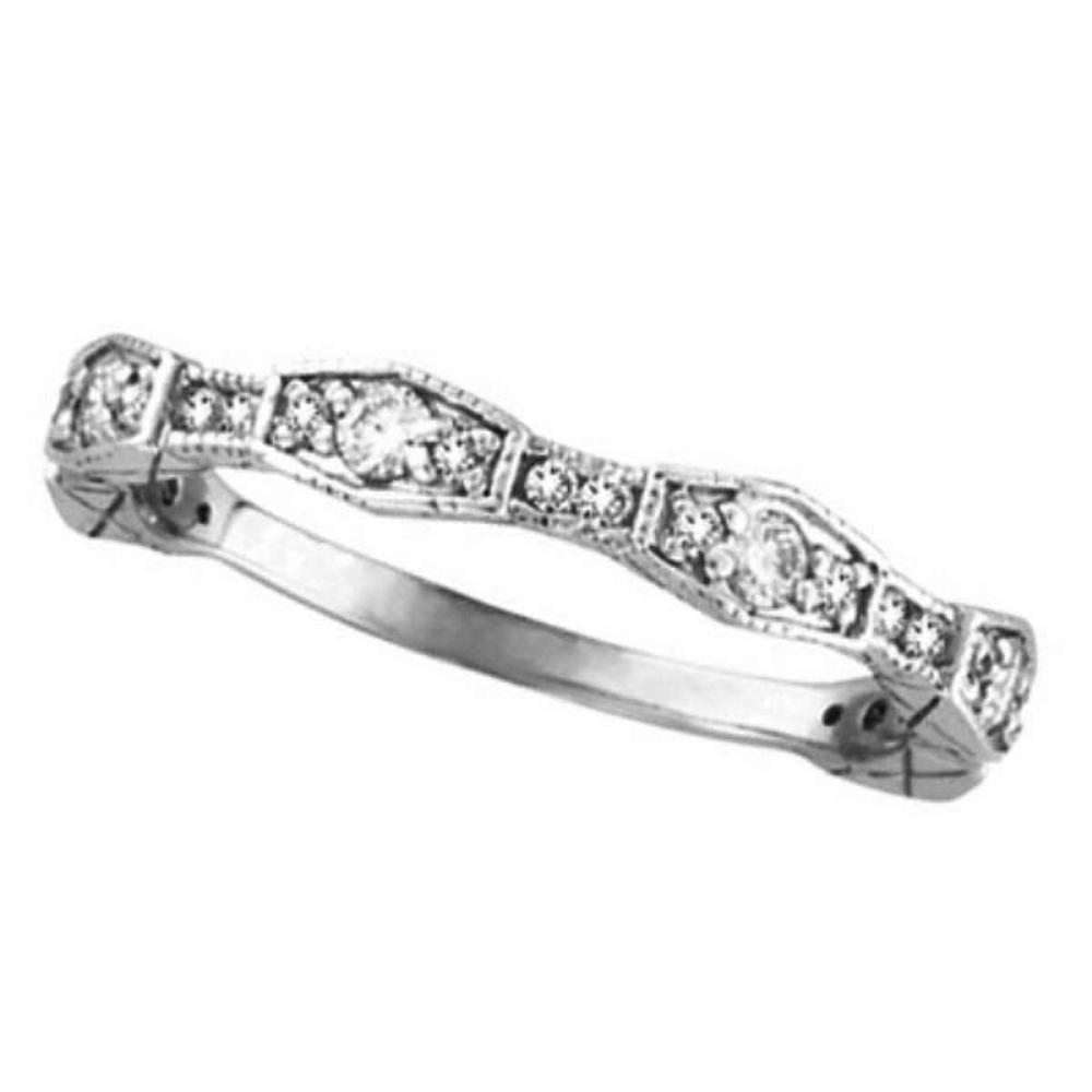 Diamond Wedding Band /Anniversary Ring in 14k White Gold (0.38 ctw) #PAPPS51610
