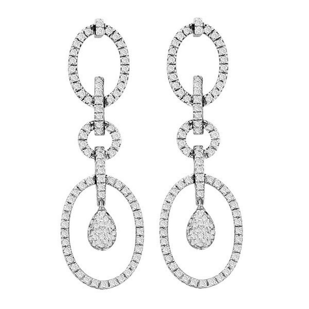 Bridal Diamond Drop Earrings in 14k White Gold (1.75 ctw) #PAPPS51558