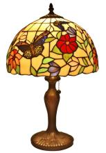 TIFFANY STYLE BUTTERFLIES TABLE LAMP 19 INCHES #99488v2