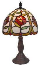 TIFFANY STYLE 14.5-INCH FLORAL MINI TABLE LAMP #99514v2
