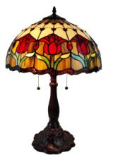 TIFFANY STYLE TULIPS TABLE LAMP 24 INCHES #99494v2