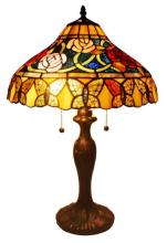 TIFFANY STYLE ROSES AND BUTTERFLIES TABLE LAMP 24 INCHES #99513v2