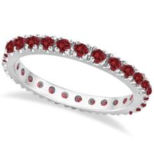 Ruby Eternity Band Stackable Ring 14K White Gold (0.50ct) #53395v3