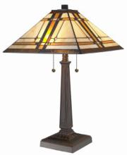 TIFFANY STYLE MISSION TABLE LAMP 22 INCHES TALL #99534v2