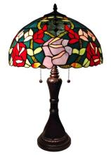TIFFANY STYLE ROSES TABLE LAMP 24 INCHES TALL #99510v2