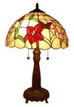 TIFFANY STYLE FLORAL TABLE LAMP 22 INCHES TALL #99518v2