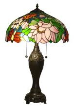 TIFFANY-STYLE FLORAL DESIGN TABLE LAMP 25 INCHES TALL #99526v2