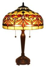 TIFFANY STYLE FLORAL TABLE LAMP 22 INCHES TALL #99517v2