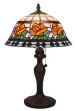 TIFFANY STYLE FLORAL DESIGN 19-INCH TABLE LAMP #99507v2