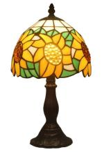 TIFFANY STYLE SUNFLOWER TABLE LAMP 15 INCHES HIGH #99492v2