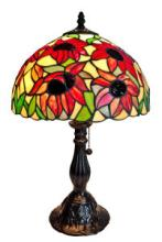 TIFFANY STYLE SUNFLOWER TABLE LAMP 19 INCHES HIGH #99489v2