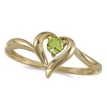 Peridot Heart Right-Hand Ring in 14k Yellow Gold (0.30ct) #53250v3