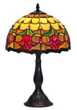 TIFFANY STYLE TULIPS TABLE LAMP 19 INCHES TALL #99530v2