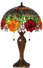 TIFFANY STYLE ROSES TABLE LAMP 23 IN #99520v2