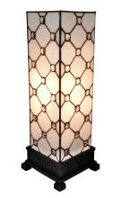 TIFFANY STYLE TABLE LAMP WHITE JEWEL 18 IN #99497v2