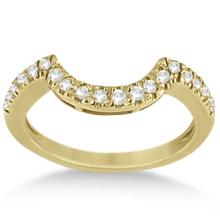 Pave Curved Diamond Wedding Band 18k Yellow Gold (0.20ct) #64985v3