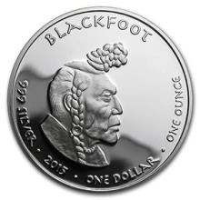 2015 1 oz Silver Proof State Dollars Idaho Blackfoot #74591v3