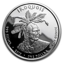 2015 1 oz Silver Proof State Dollars Pennsylvania Iroquois #74588v3