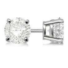 Lot 20161013: Certified 0.41 CTW Round Diamond Stud Earrings D/SI2 #PAPPS83819