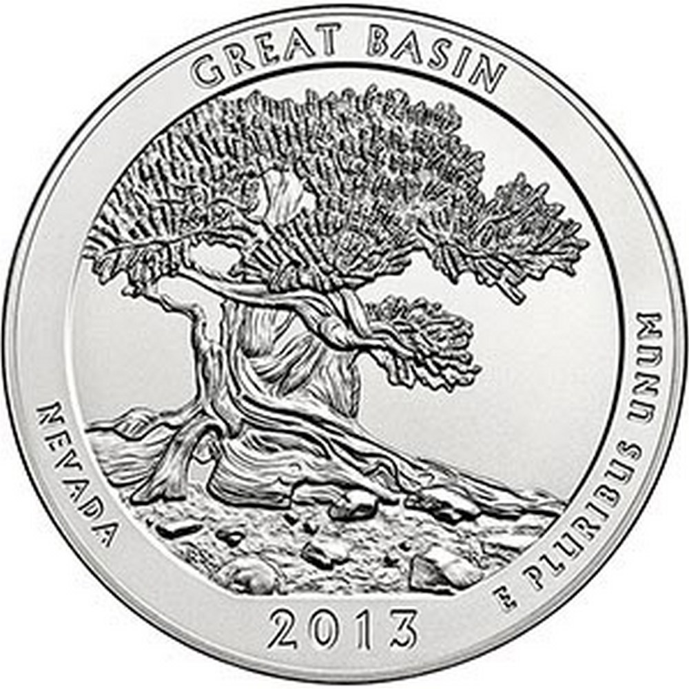 2013 Silver 5oz. Great Basin ATB #PAPPS84355