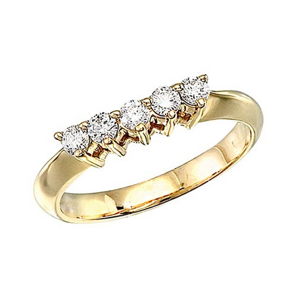 Certified 14k Yellow Gold 0.33 Ct Diamond Wrap Band #PAPPS51460