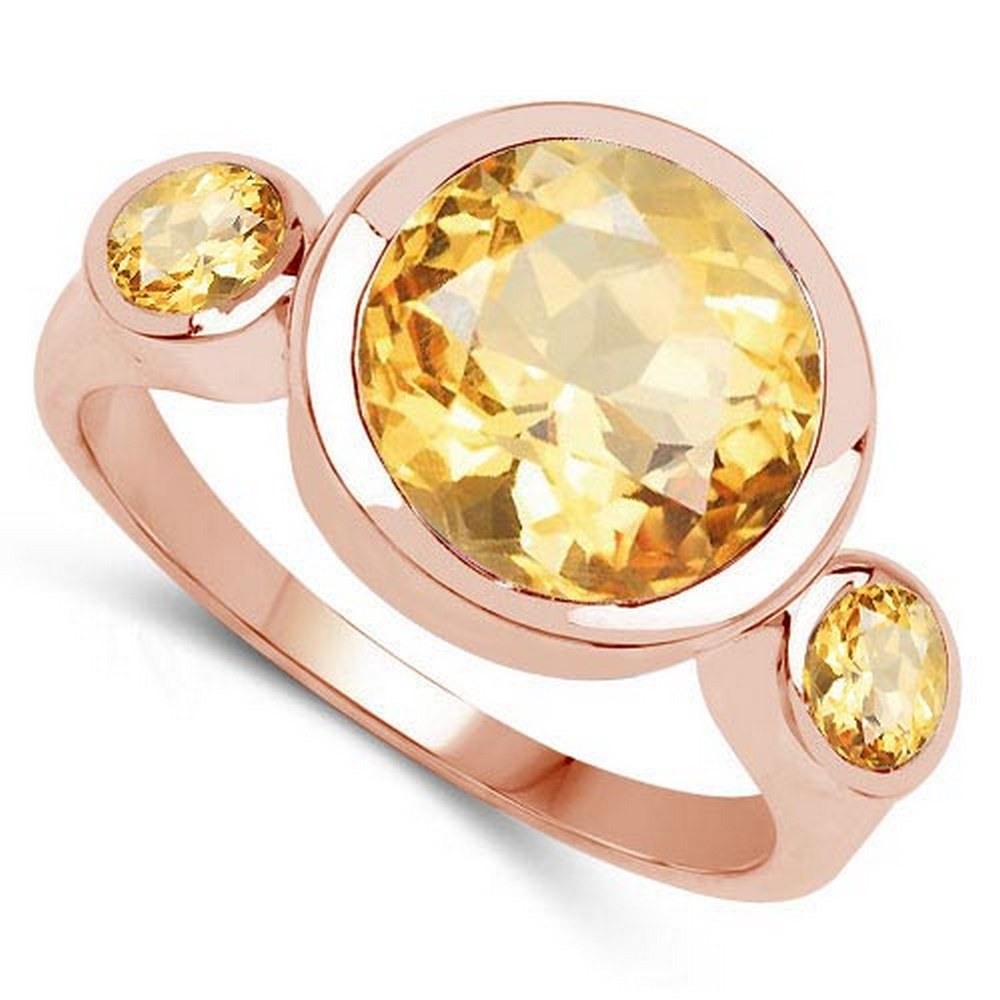 2.60 CTW Genuine Citrine 14K Rose Gold Ring #PAPPS90554