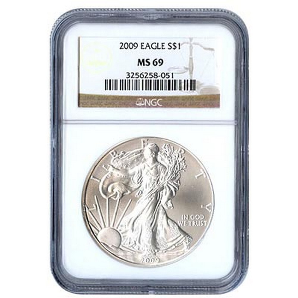 Certified Uncirculated Silver Eagle 2009 MS69 #PAPPS84341