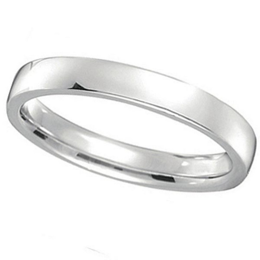 Palladium Wedding Ring Band Low Dome Comfort Fit (3mm) #PAPPS21336