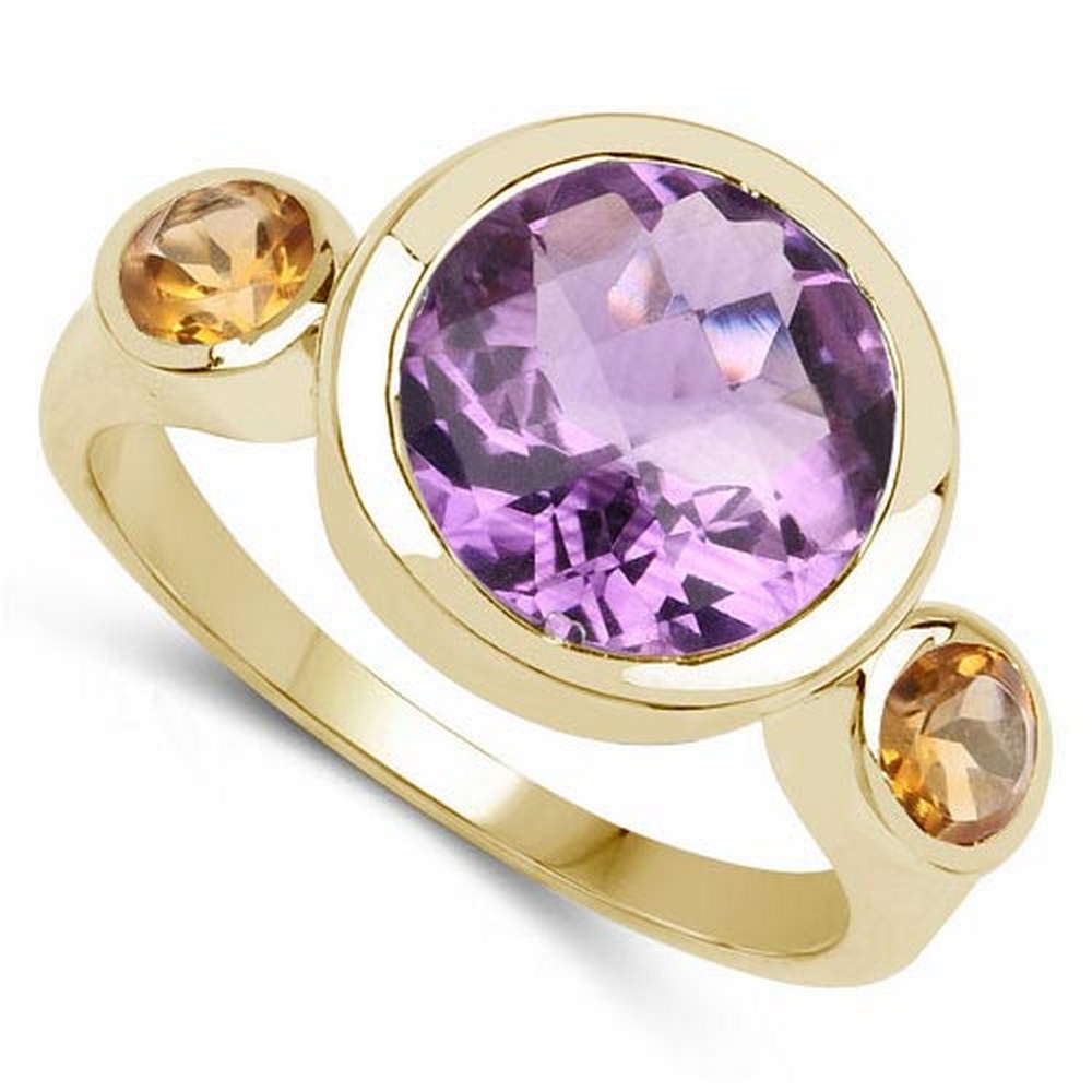 2.60 CTW Amethyst 14K Yellow Gold Ring #PAPPS90561