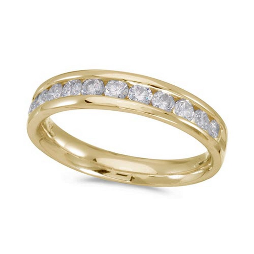 Certified 14K Yellow Gold Diamond Diamond Band Ring #PAPPS51220