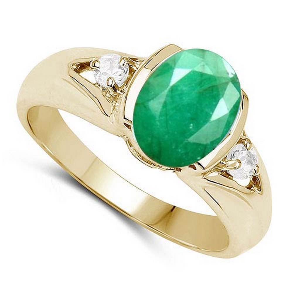 2.70 CTW Genuine Emerald And Diamond 14K RoseGold Ring #PAPPS90527