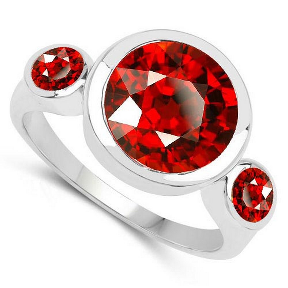 2.60 CTW Genuine Garnet 14K White Gold Ring #PAPPS90547