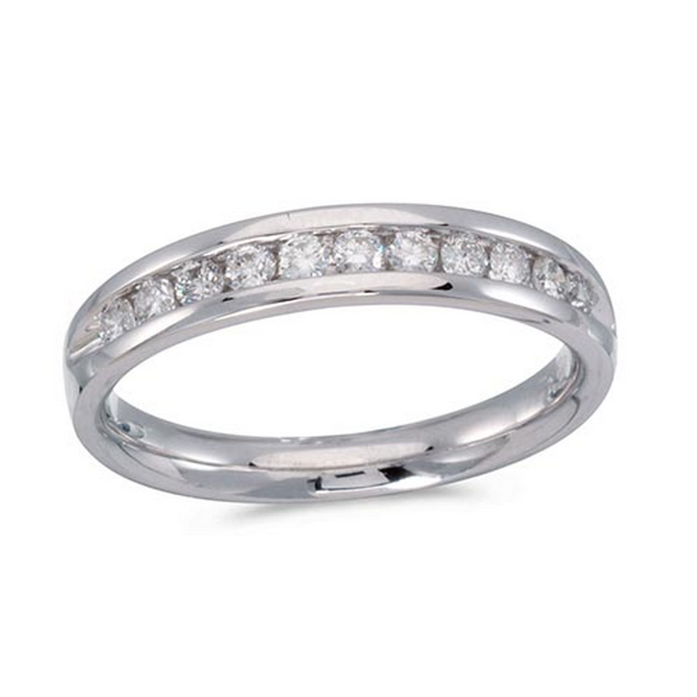 Certified 14K White Gold Diamond Diamond Band Ring #PAPPS51245