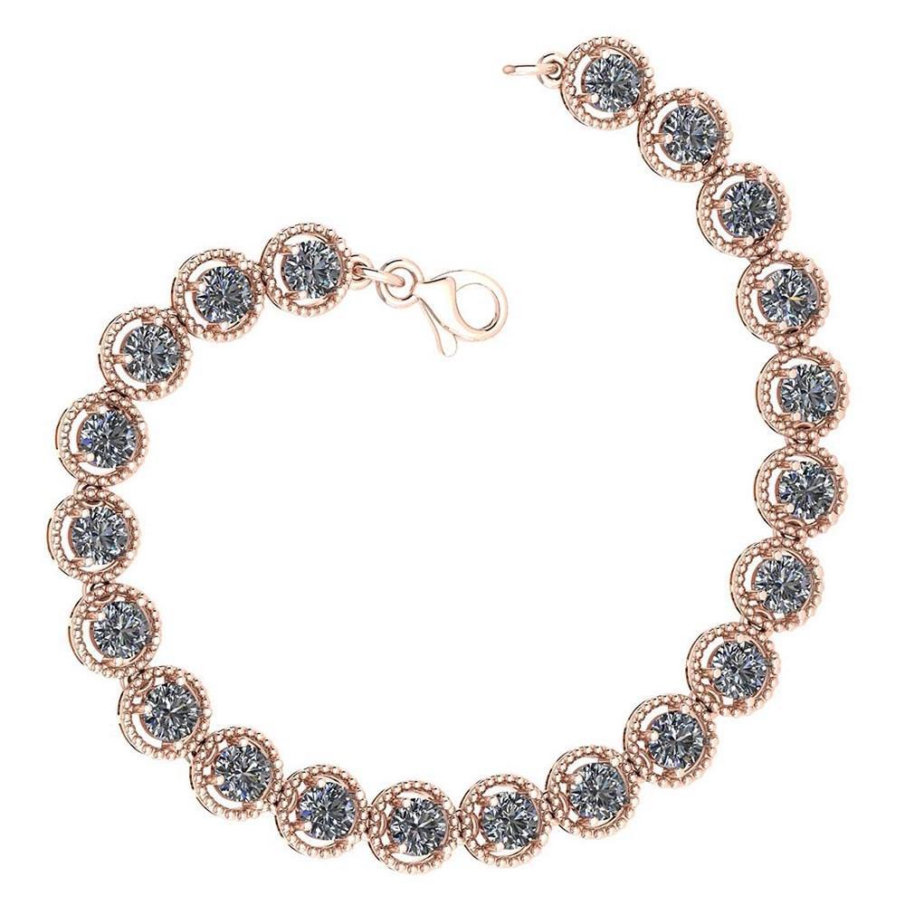 Certified 5.25 Ctw Diamond VS/SI1 Bracelet 14K Rose Gold Made In USA #PAPPS21763