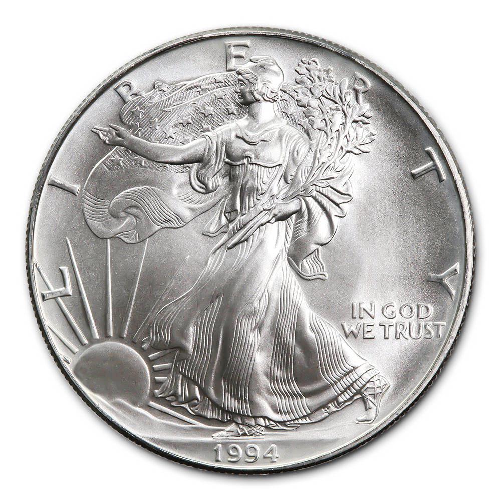 1994 1 oz Silver American Eagle BU #PAPPS49314