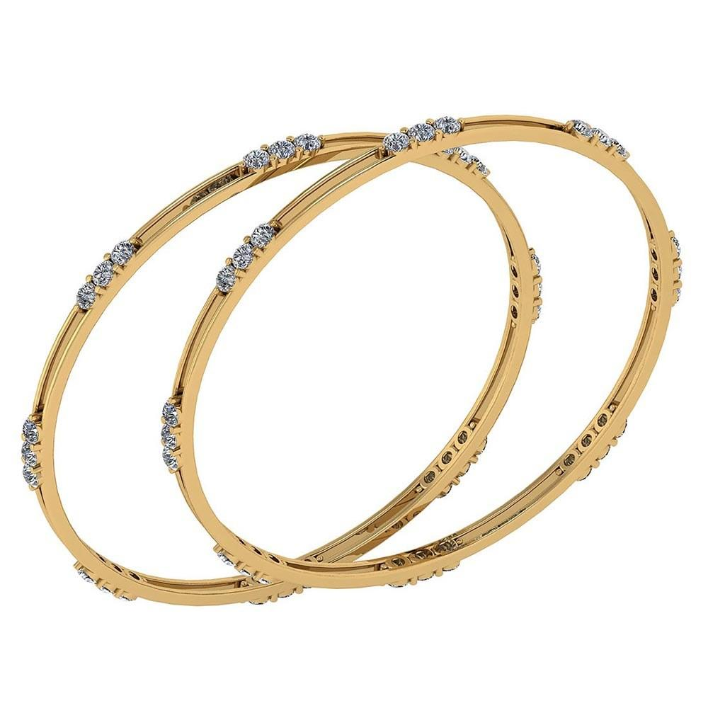 Certified 4.80 Ctw Diamond VS/SI1 Bangles 14K Yellow Gold Made In USA #PAPPS22019