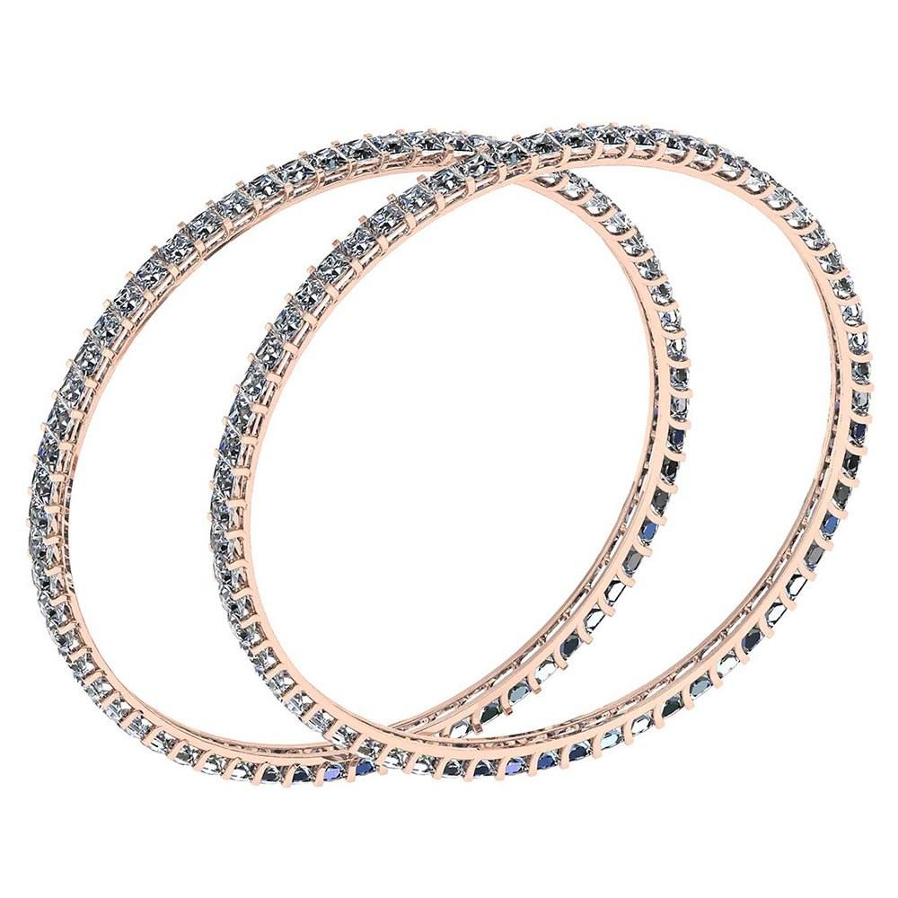 Certified 12.40 Ctw Diamond VS/SI1 Bangles 18K Rose Gold Made In USA #PAPPS22117