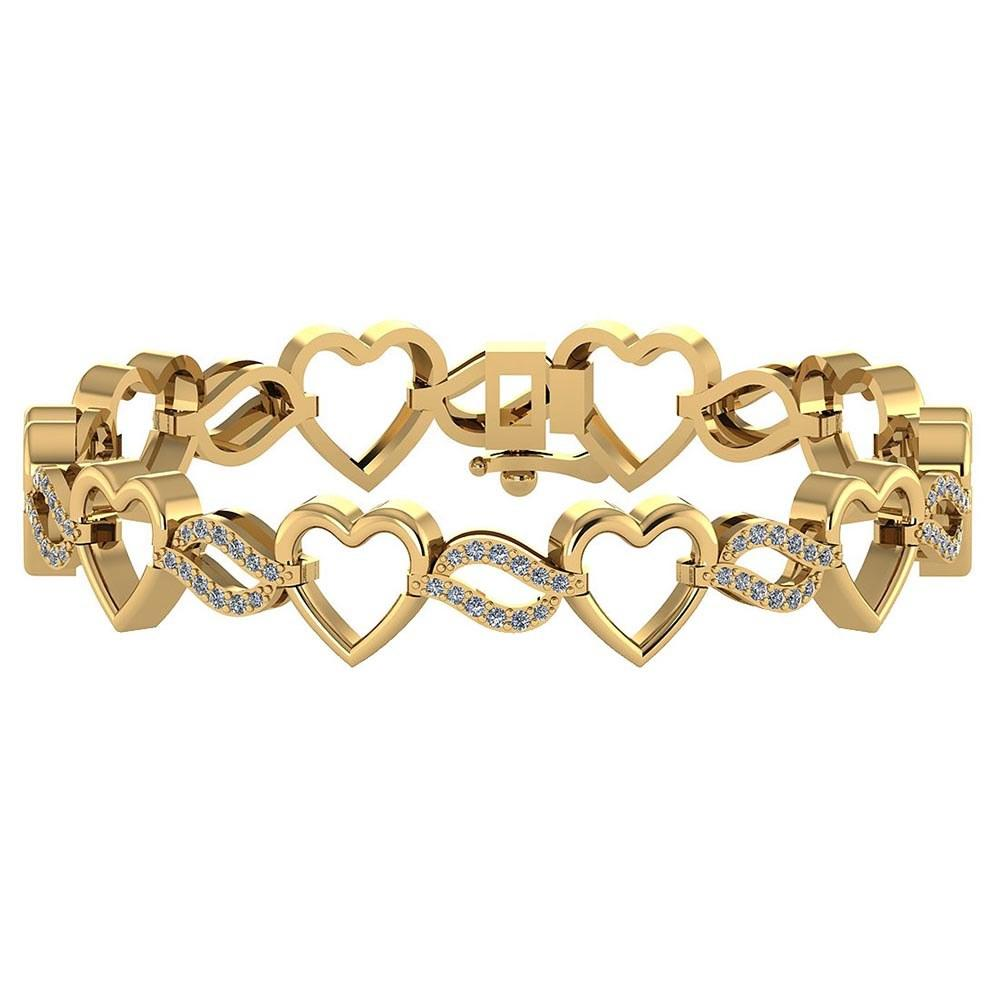 Certified 0.55 Ctw Diamond VS/SI1 Bracelet 14K Yellow Gold Made In USA #PAPPS21770