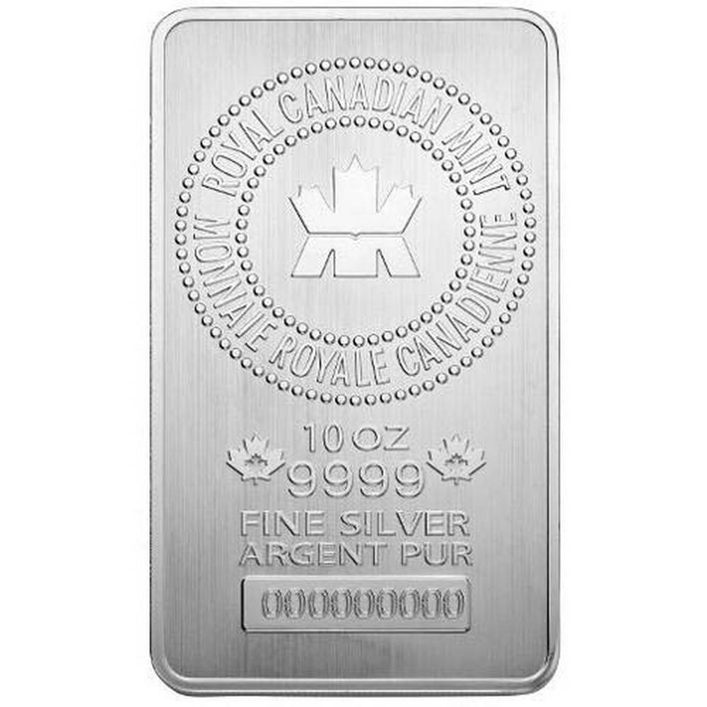 Royal Canadian Mint 10 oz Silver Bar #PAPPS49287