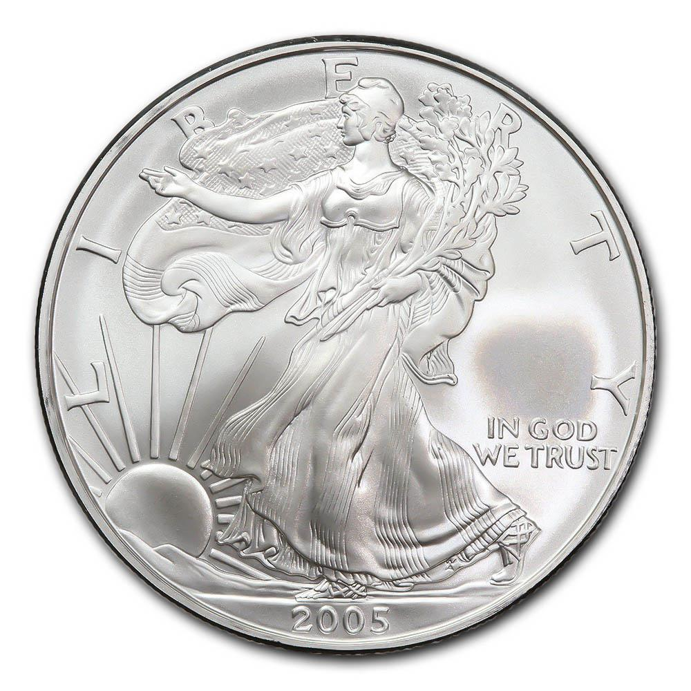 2005 1 oz Silver American Eagle BU #PAPPS49304