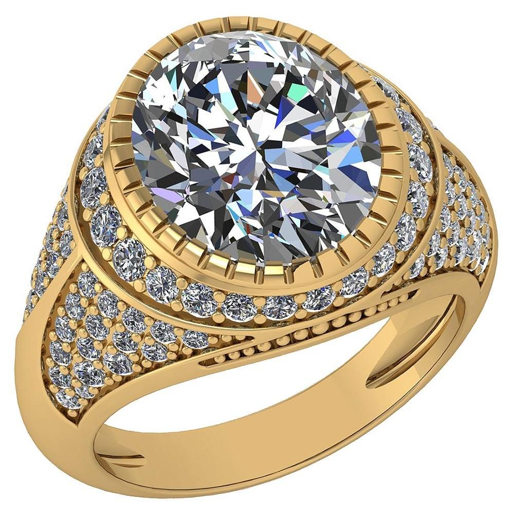Certified 3.00 Ctw Diamond VS/I1 Halo Ring For 14K Yellow Gold #PAPPS22079